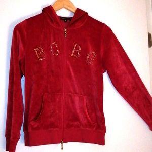 BCBG max Azria  tes velvet hoodie